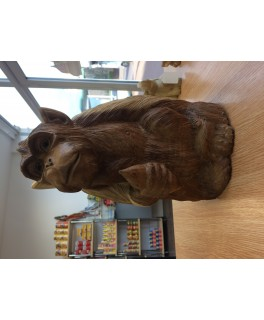 Monkey Wooden Carving